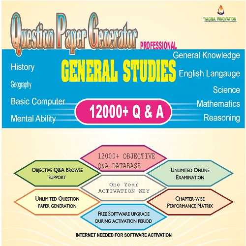 GENERAL STUDIES QUESTION BANK